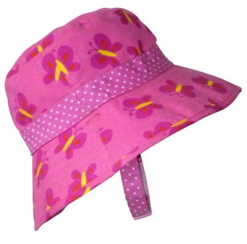 Baby Girls Reversible Sun Hat - Butterflies