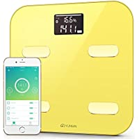 Yunmai Color Bluetooth Body Fat Scale & Body Composition Monitor with App (Yellow)