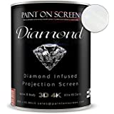 Paint On Screen Projector Screen Paint S1 Screen Plus SIlver - Gallon Diamond - Gallon