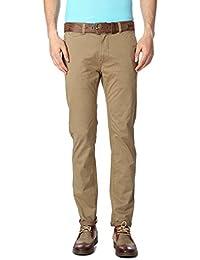 Peter England Khaki Trousers - B01CGN3Q3G