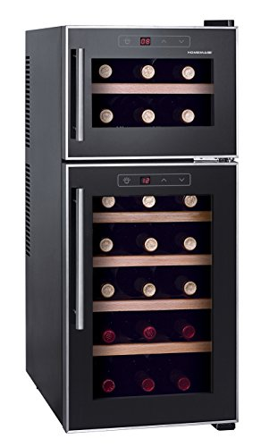Homeimage dual zone thermo electric wine cooler with for Modern homes 8 bottle wine cooler