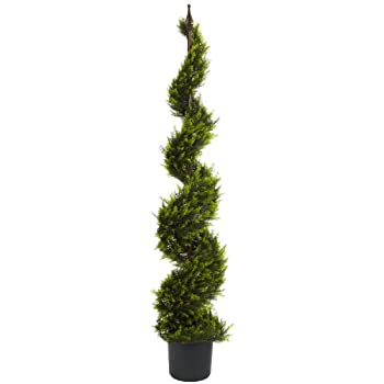Nearly Natural 5325 Cypress Spiral Tree, 5-Feet, Green