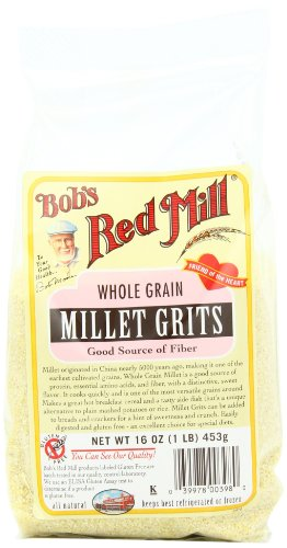 Bob's Red Mill Millet Grits/Meal, 16-Ounce (Pack of 4)