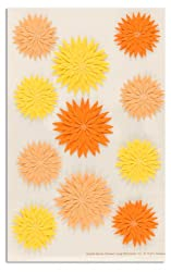 Martha Stewart Crafts Stickers Dahlia Orange/Yellow By The Package