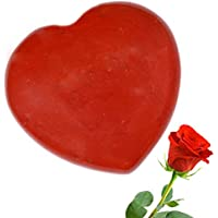 Valentine Day Gifts For Lover Red Jasper Heart Shape For Love 1.5 Inch With Artificial Flower For Valentines(4...