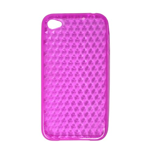 Maximal Power iPhone4G Case PK Silicone Crystal Case for Apple iPhone 4G, Fits AT&T iPhone (Pink)
