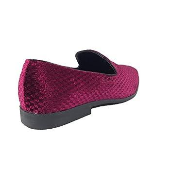 Harell05 Men's Vintage Velvet Dress Shoes Classic Tuxedo Slip On Loafers