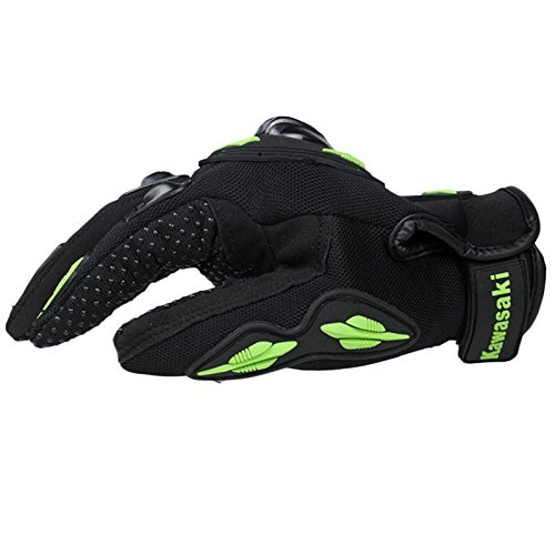 Kawasaki Motorcycle gloves retro Moto racing gloves Motocross full finger gloves Cycling glove M L XL XXL (M: 8-8.5 cm) 5