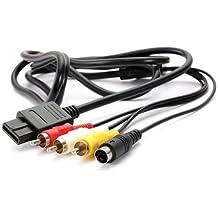 Generic 6ft AV TV S-Video AV Cable For Super Nintendo Gamecube 64 SNES NGC N64 - B0746KY26K