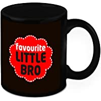 Mug For Brother - HomeSoGood Favorite Lil Brother White Ceramic Coffee Mug - 325 Ml