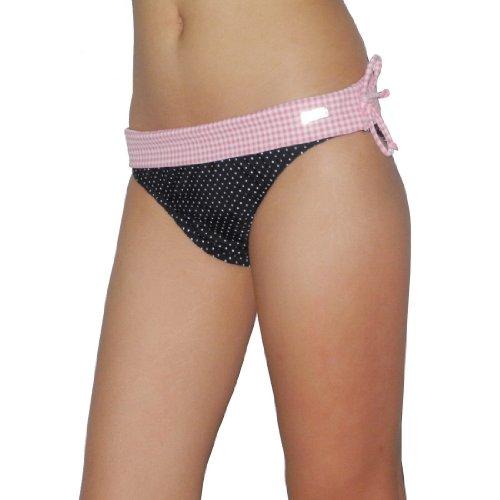 Womens Buffalo Soft & Smooth Surf Swim Bikini Trunks / Bottom - Quick Dry - Pink & Black