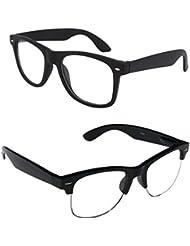New Stylish UV Protected Combo Pack Of Sunglasses For Women / Girl ( ClearBlackWayfarer-ClearHFWayfarer ) ( CM-SUN...