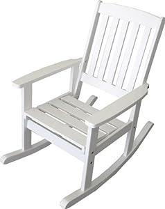 Sedia a dondolo da giardino in legno verniciato bianco - Sedia a dondolo da giardino ikea ...