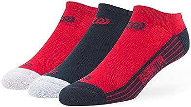 MLB Washington Nationals Float No Show Socks Pack of 3 Team Color Large 10-13 Size Socks