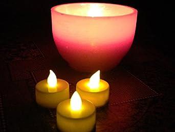 lot de 10 fausses fausses bougies clignotantes led. Black Bedroom Furniture Sets. Home Design Ideas