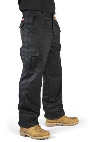 Lee Cooper Workwear 205 Black Cargo Combat Trousers Waist 32