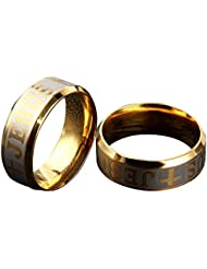 Christian Jesus Couple Rings For Couples Ring For Love Engagement Wedding Gifts Ring Sets Men WomenALRG0290GO