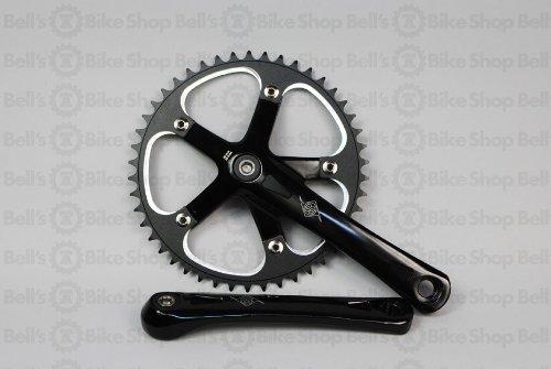 """Crankset Bike Single Speed Origin 8 Black 1/8 X 165mm 46t """""""