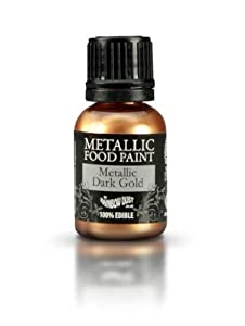 Cake Decorating Gold Paint : Ready-to-use Metallic Dark Gold 100% Edible Food Paint for ...