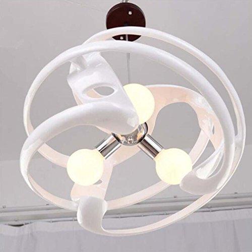 L&QQ Modern minimalist chandelier office creative art three , 110-120v , white