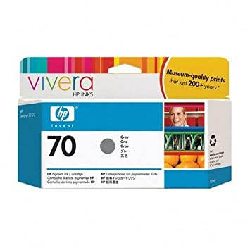 HP 70 Light Gray Ink Cartridge Use In