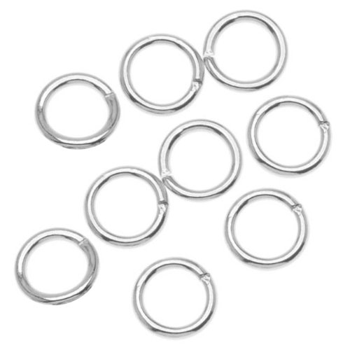 6mm 19 Gauge Open Jump Rings Silver Plated (100)