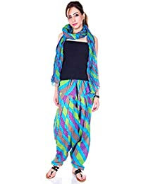 Kismat Collection Women's Pure Cotton Printed Patiala & Duppta Sets (Free Size) - B01L6SFPT0