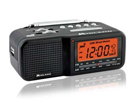 Nanny Cam, Midland Very Small Low Profile Am/fm Clock Radio with Weather Band Alert Nanny Cam (Black N White Camera)