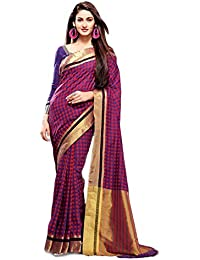 Magneitta Women's Cotton Silk Saree (GSS2320_Purple)