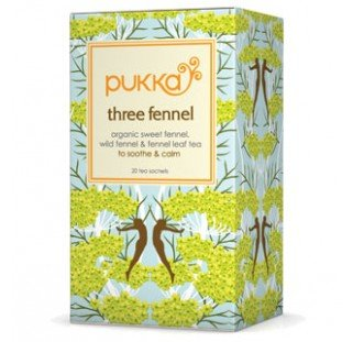 Pukka Herbs Organic Three Fennel Tea - Pack of 20 Sachets