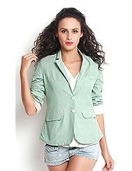 The Gud Look Women Cotton Elisa Chambrey Solid SS Coat