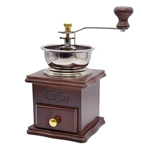 XHSP Vintage Mini Manual Coffee Grinder Wooden Hand Coffee Mill Herbal Medicine Grinding Machine 3