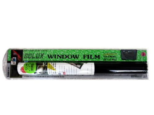 Window Tint Film Do It Yourself Kit - Limo Black 1% Original Solux Brand