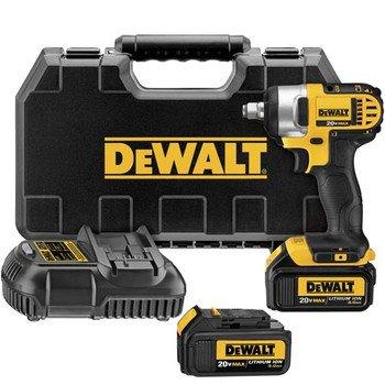 DEWALT DCF880HL2 20-Volt Li-Ion 3.0 Ah 1/2-Inch Impact Wrench Kit with Hog Ring