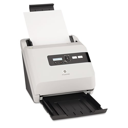 HP Products - HP - Scanjet 5000 Sheet-Feed Scanner, 600 dpi, White - Sold As 1 Each - Enhance productivity. - Software helps streamline tasks. - Improve document management. - Advanced paper handling for greater productivity. - High-volume duty cycle.