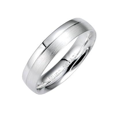 Infinite U 925 Argent Simple Vague Zircone Cubique Bague R/églable Taille 49 /à 55 pour Couple//Amoureux