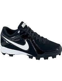 Youth Nike MVP Keystone Low LE Molded Wide Baseball Cleat Black/White