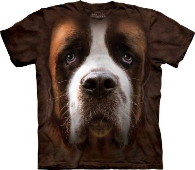 Saint Bernard Face The Mountain Tee Shirt Adult M-XXXL (Size: Large)