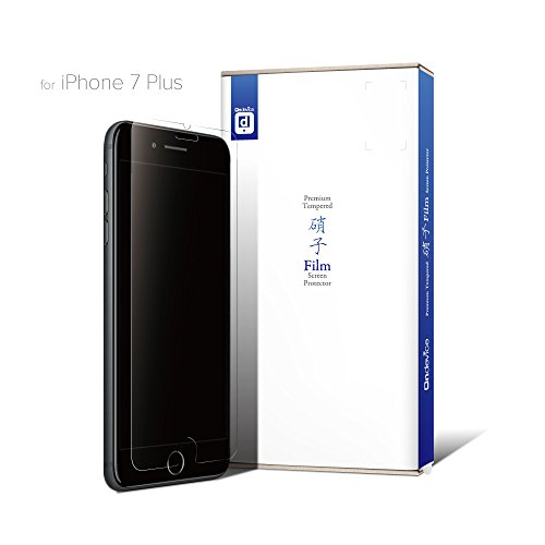 on-device iPhone 7 Plus (5.5インチ) ガラスフィルム 液晶保護フィルム 国産ガラス採用 厚さ0.33mm Apple アップル 【国内正規流通品】 (iPhone 7 Plus, クリア)
