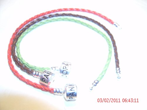 Pandora Style Leather Bracelet - ONLY One (1) Black color will be sent.