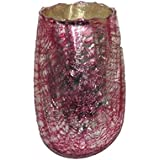 AKP Glass Decorative Candle Stands - 3 Inch X 4 Inch, Pink