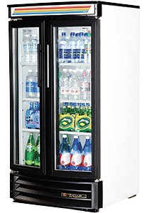 White True GDM-14RF Refrigerated Glass Door Merchandiser Radius Front - 14 Cubic Foot