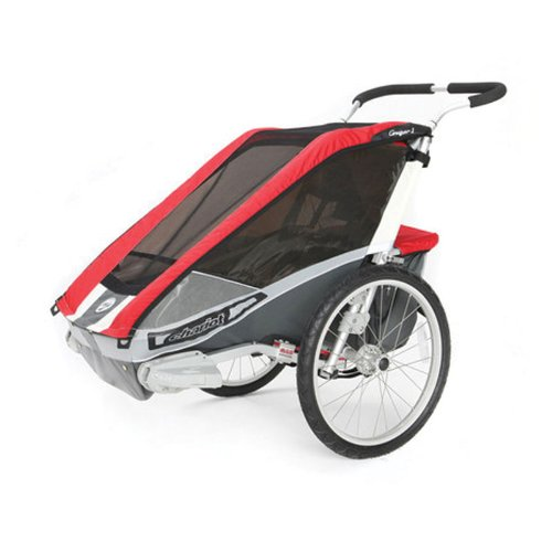 Chariot Deluxe Cougar 1 CTS Adventure Carrier (Chassis Only) - Red/Silver/Grey