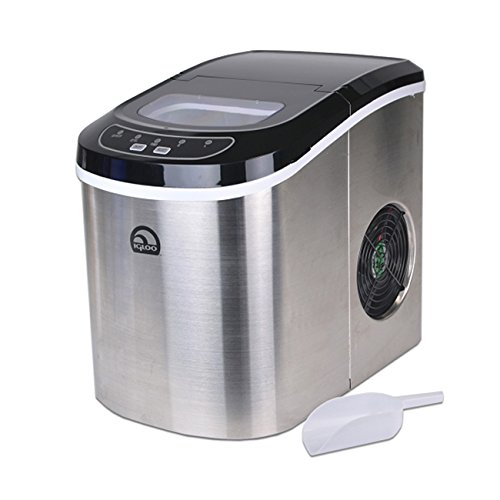 Igloo Stainless Steel Portable Countertop Ice Maker w/ Ice Scoop ...