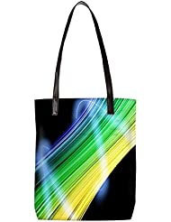Snoogg Abstract Multicolor Design Womens Digitally Printed Utility Tote Bag Handbag Made Of Poly Canvas With Leather... - B01HI2NZMC
