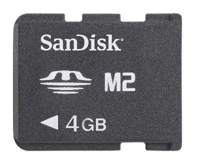 Sony ericsson W580i T707 Equinox K850i M600i 4GB M2 Sandisk Memory Stick Micro (M2) Card