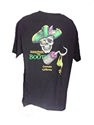 Pirate Skull Surrender the Booty-Bikini-Mens Black Tshirt