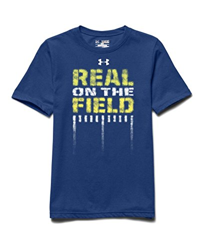 Under Armour Big Boys' UA Real Field T-Shirt Youth Small AMERICAN BLUE