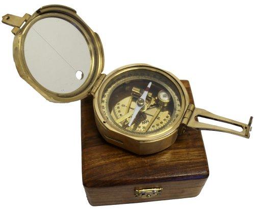 "3"" Brunton Style Compass w/Box - Navigational Instrument 0"