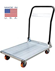 [SALE]Euro Portable Aluminium Trolley 900× 600× 250 Mm - Heavy Duty 400kg Rated - Made In USA - Collapsible Hand...